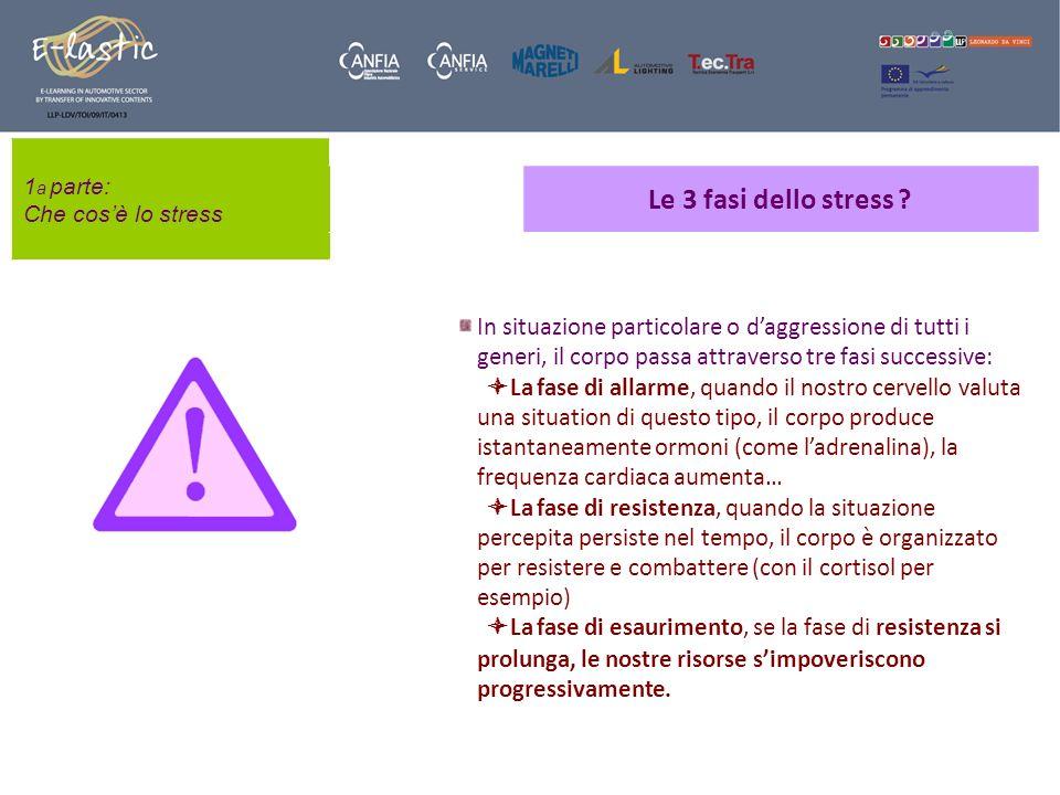 1a parte: Che cos'è lo stress. Le 3 fasi dello stress