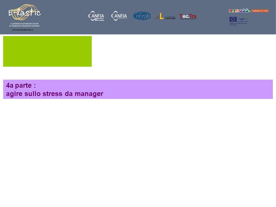 4a parte : agire sullo stress da manager
