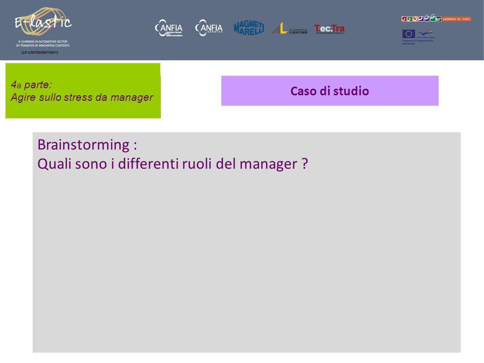 Quali sono i differenti ruoli del manager