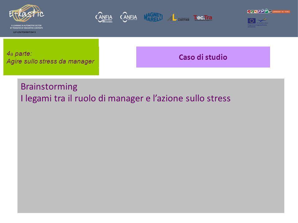 I legami tra il ruolo di manager e l'azione sullo stress