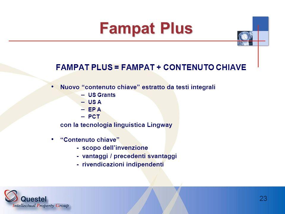 FAMPAT PLUS = FAMPAT + CONTENUTO CHIAVE