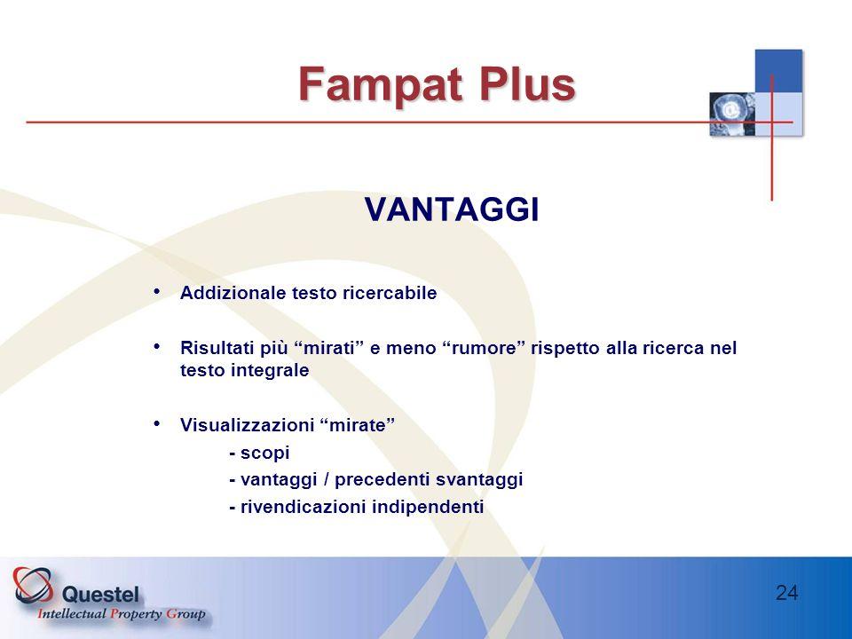 Fampat Plus VANTAGGI Addizionale testo ricercabile