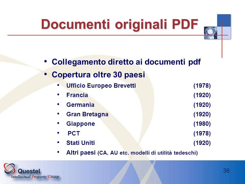Documenti originali PDF