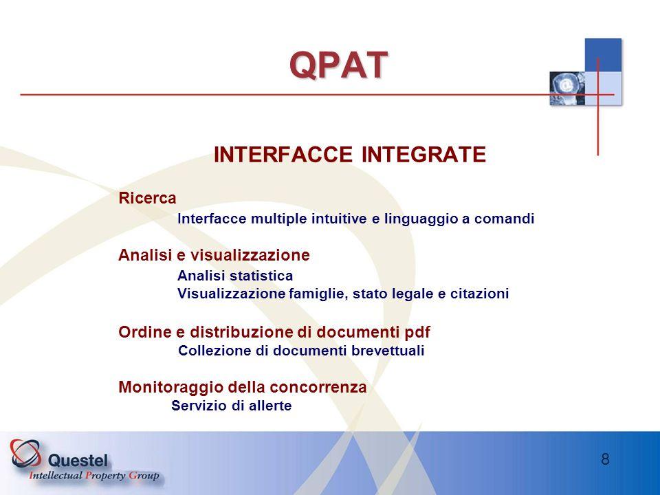 QPAT INTERFACCE INTEGRATE Ricerca