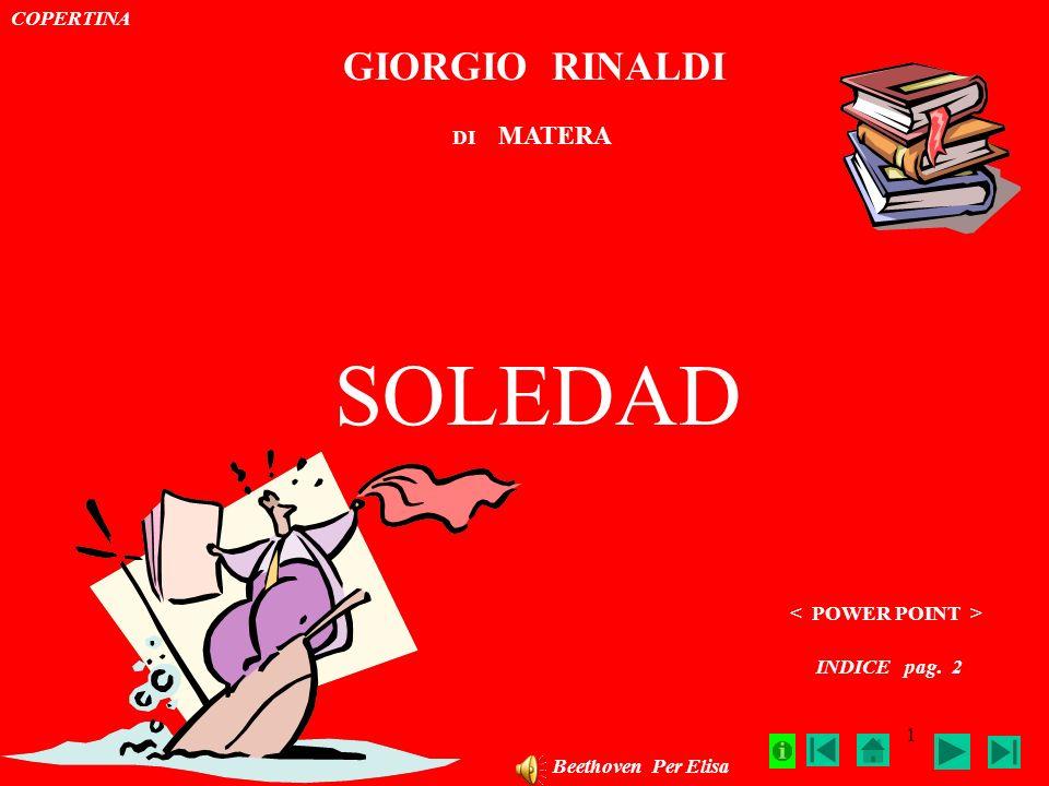 SOLEDAD GIORGIO RINALDI COPERTINA DI MATERA < POWER POINT >
