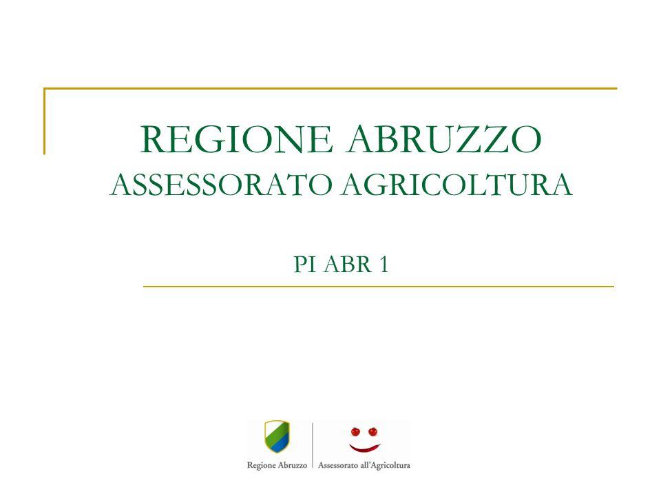 REGIONE ABRUZZO ASSESSORATO AGRICOLTURA PI ABR 1