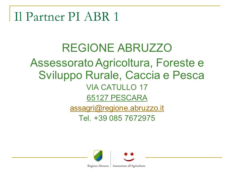 Assessorato Agricoltura, Foreste e Sviluppo Rurale, Caccia e Pesca