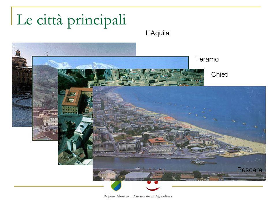 Le città principali L'Aquila Teramo Chieti Pescara