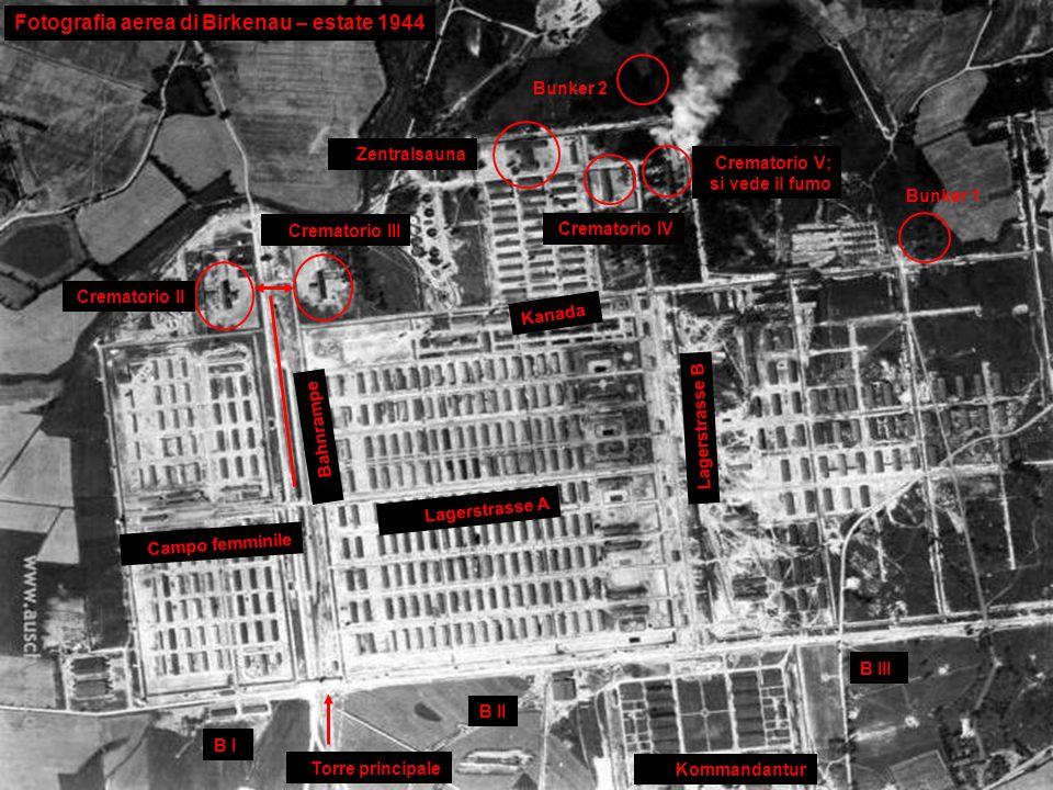 Fotografia aerea di Birkenau – estate 1944