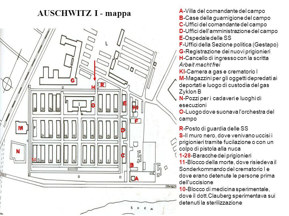 AUSCHWITZ I - mappa