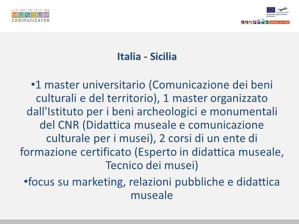 focus su marketing, relazioni pubbliche e didattica museale
