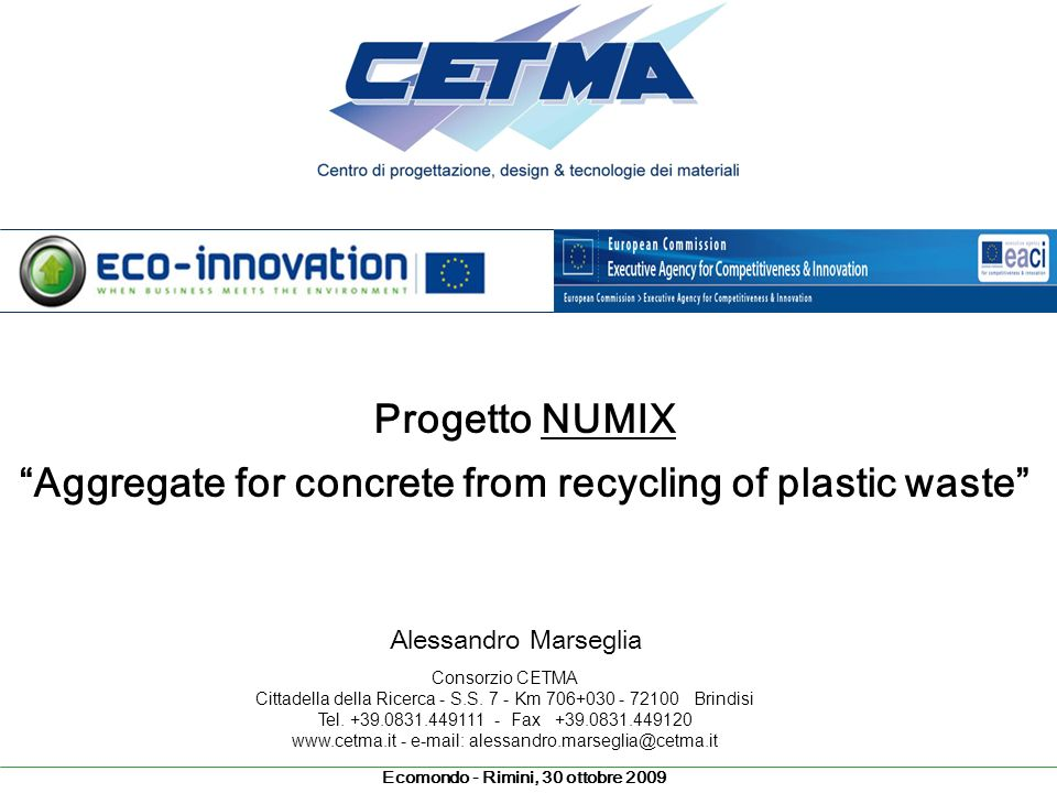 Aggregate for concrete from recycling of plastic waste