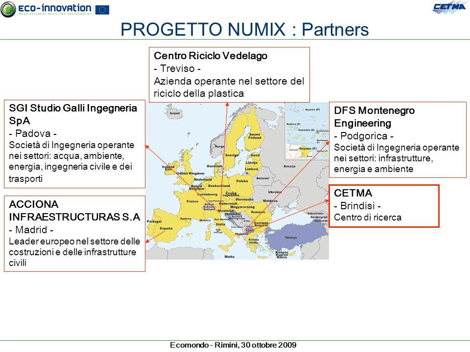 PROGETTO NUMIX : Partners