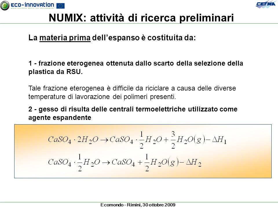 NUMIX: attività di ricerca preliminari