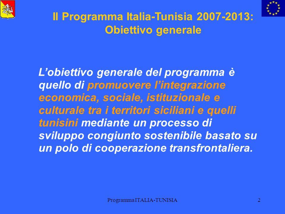 Il Programma Italia-Tunisia 2007-2013: