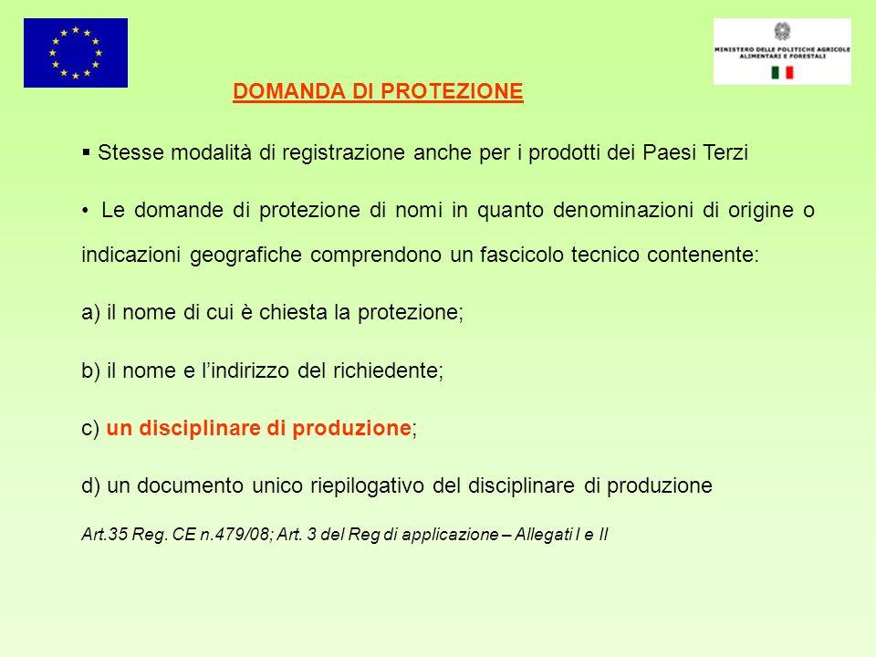 Stesse modalità di registrazione anche per i prodotti dei Paesi Terzi