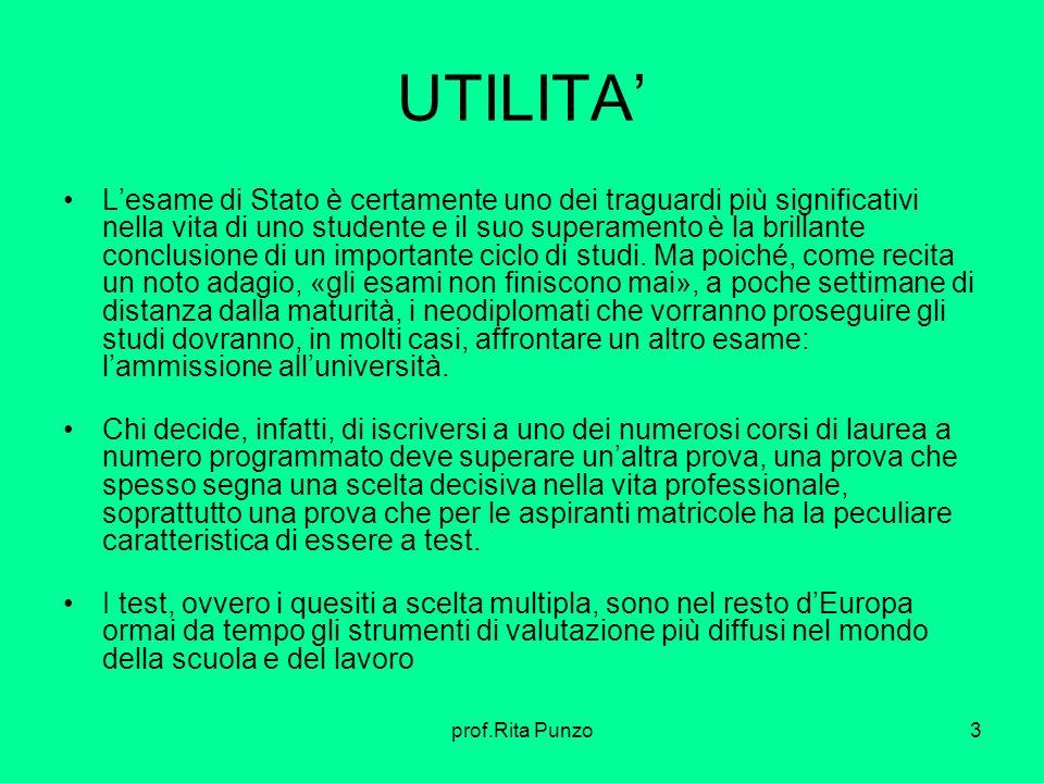 UTILITA'