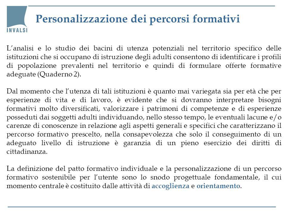Personalizzazione dei percorsi formativi