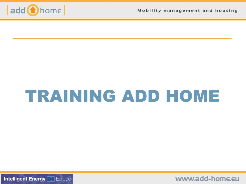 TRAINING ADD HOME
