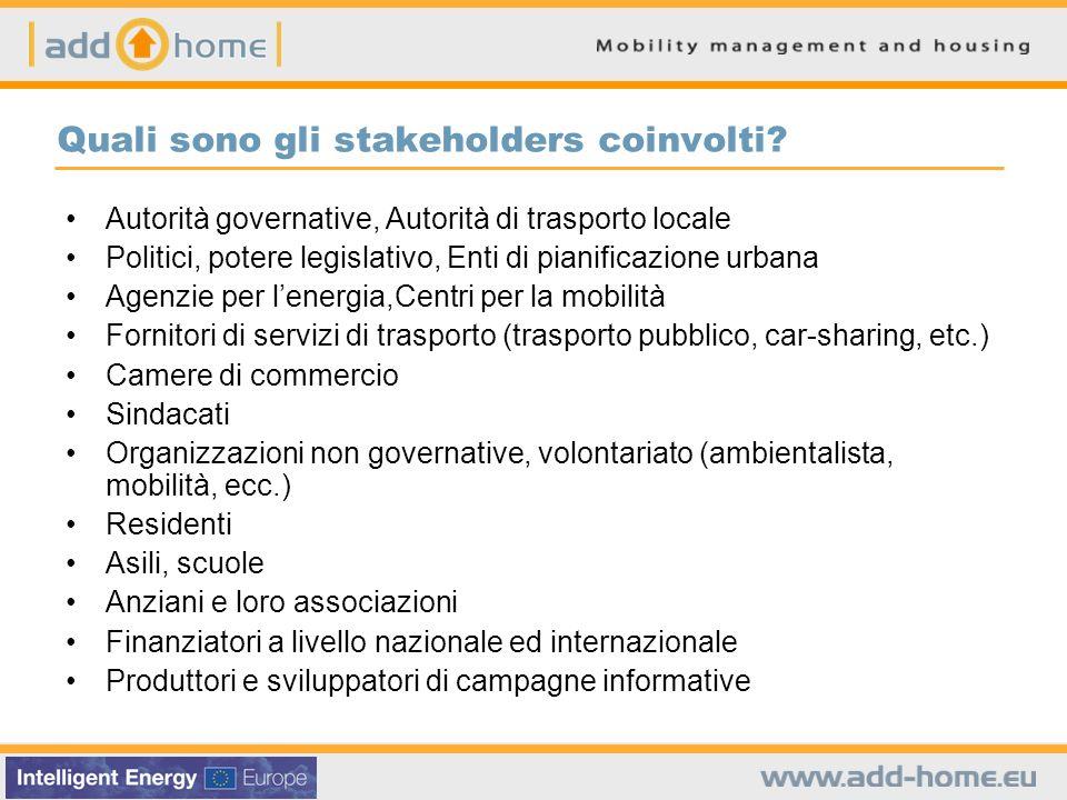Quali sono gli stakeholders coinvolti