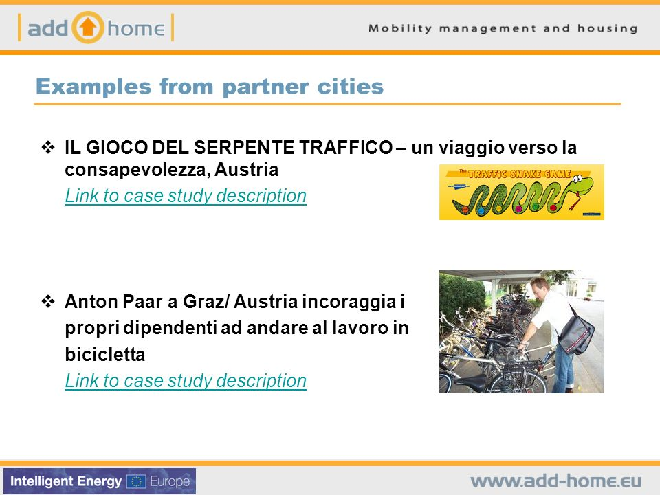 Examples from partner cities
