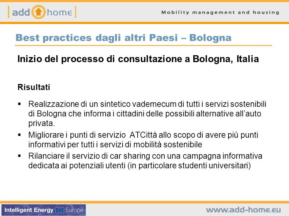 Best practices dagli altri Paesi – Bologna