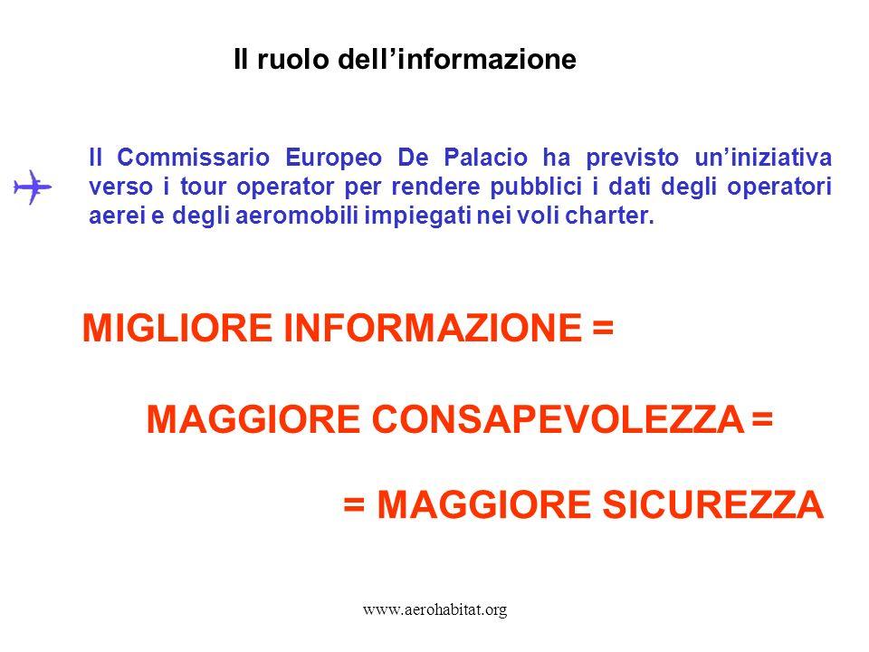 Il ruolo dell'informazione MAGGIORE CONSAPEVOLEZZA =