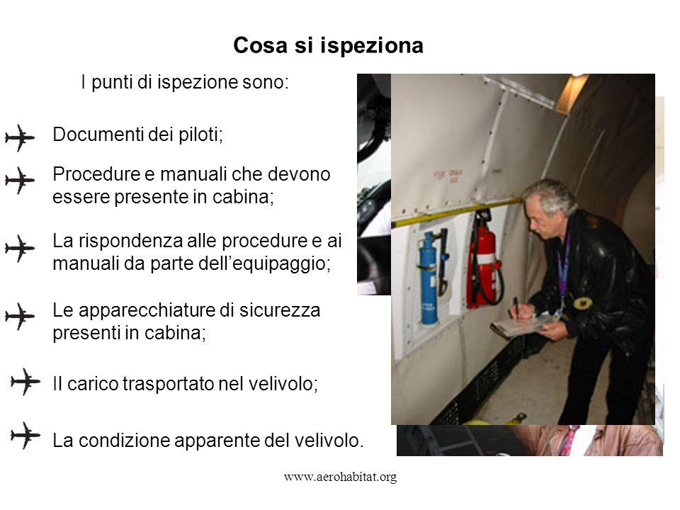 Cosa si ispeziona I punti di ispezione sono: Documenti dei piloti;