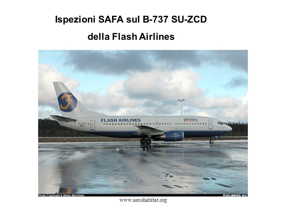 Ispezioni SAFA sul B-737 SU-ZCD