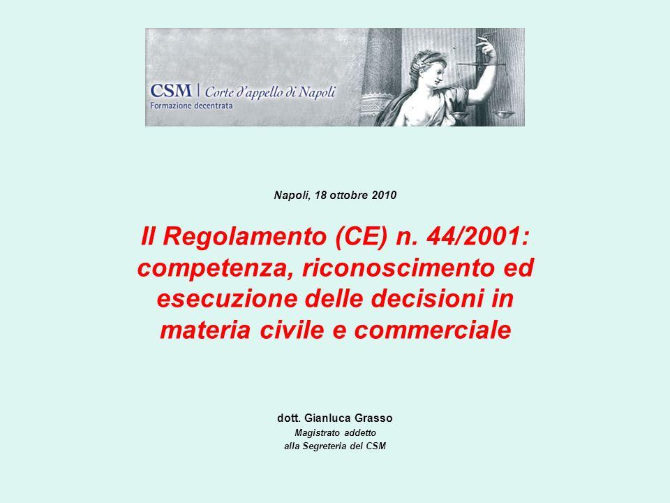dott. Gianluca Grasso Magistrato addetto alla Segreteria del CSM