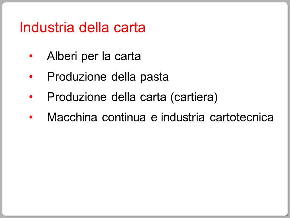 Industria della carta Alberi per la carta Produzione della pasta