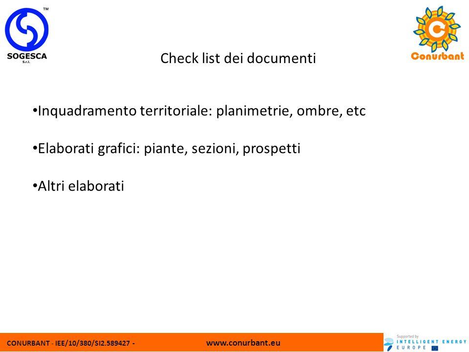 Check list dei documenti