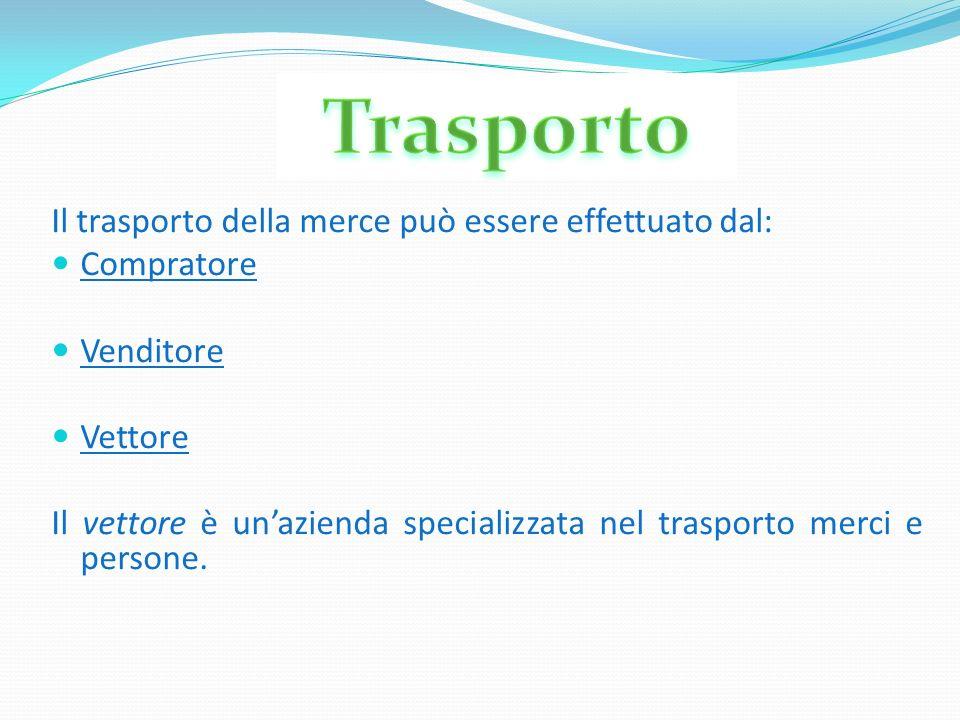 Trasporto Il trasporto della merce può essere effettuato dal: