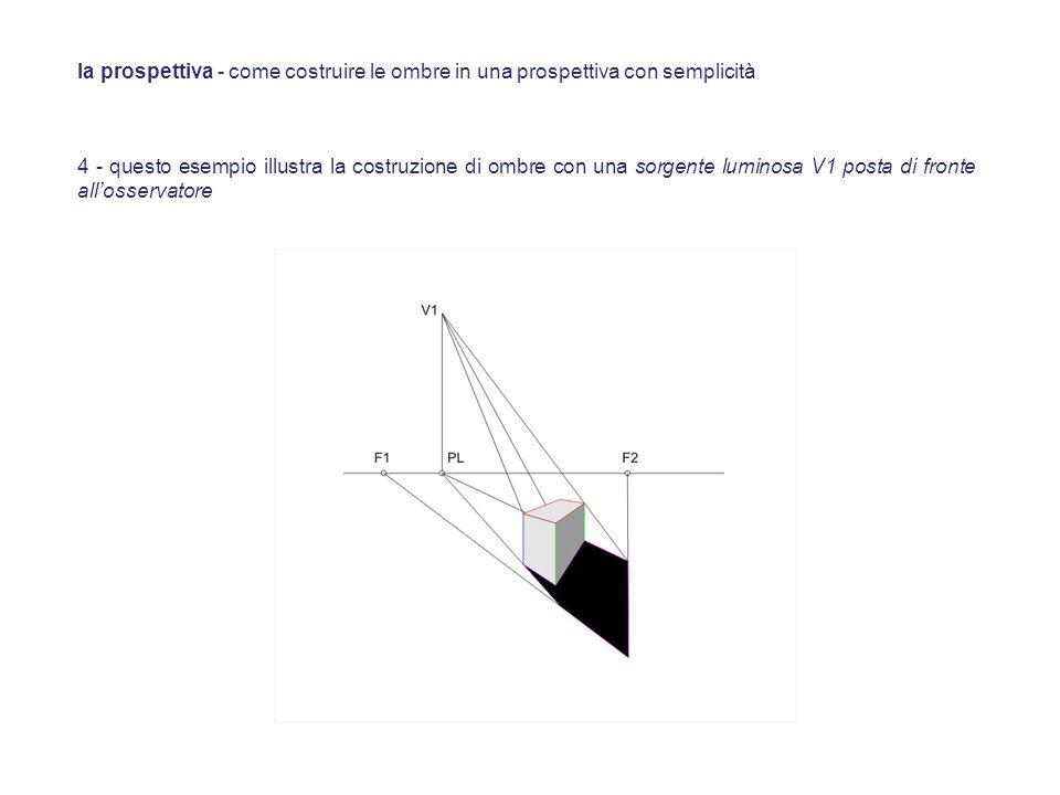 la prospettiva - come costruire le ombre in una prospettiva con semplicità