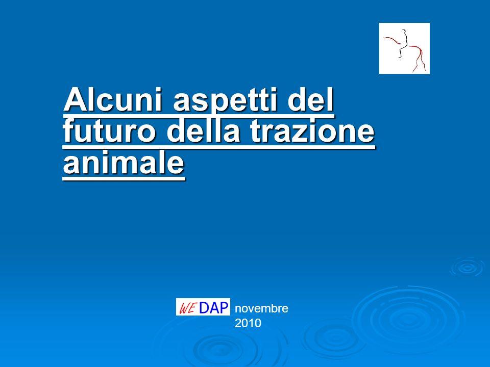 Alcuni aspetti del futuro della trazione animale
