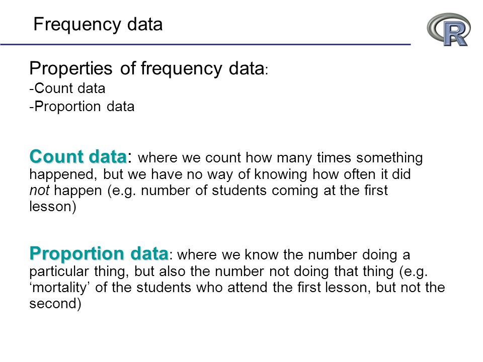 Properties of frequency data:
