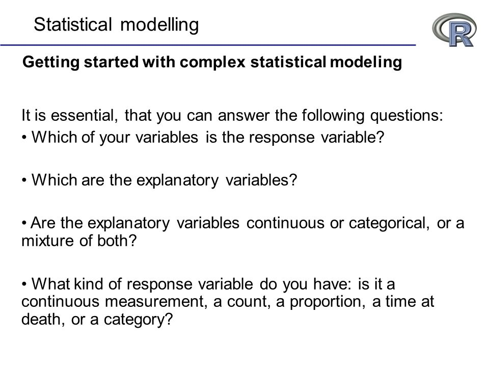 Getting started with complex statistical modeling