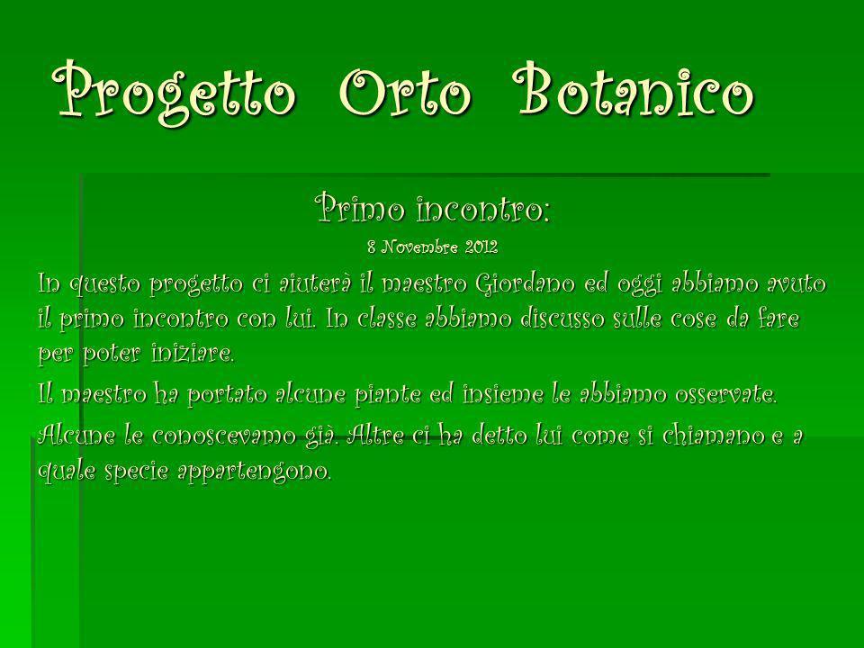 Progetto Orto Botanico