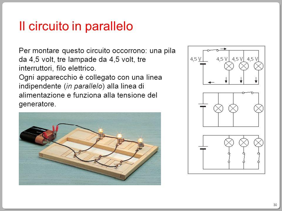Il circuito in parallelo