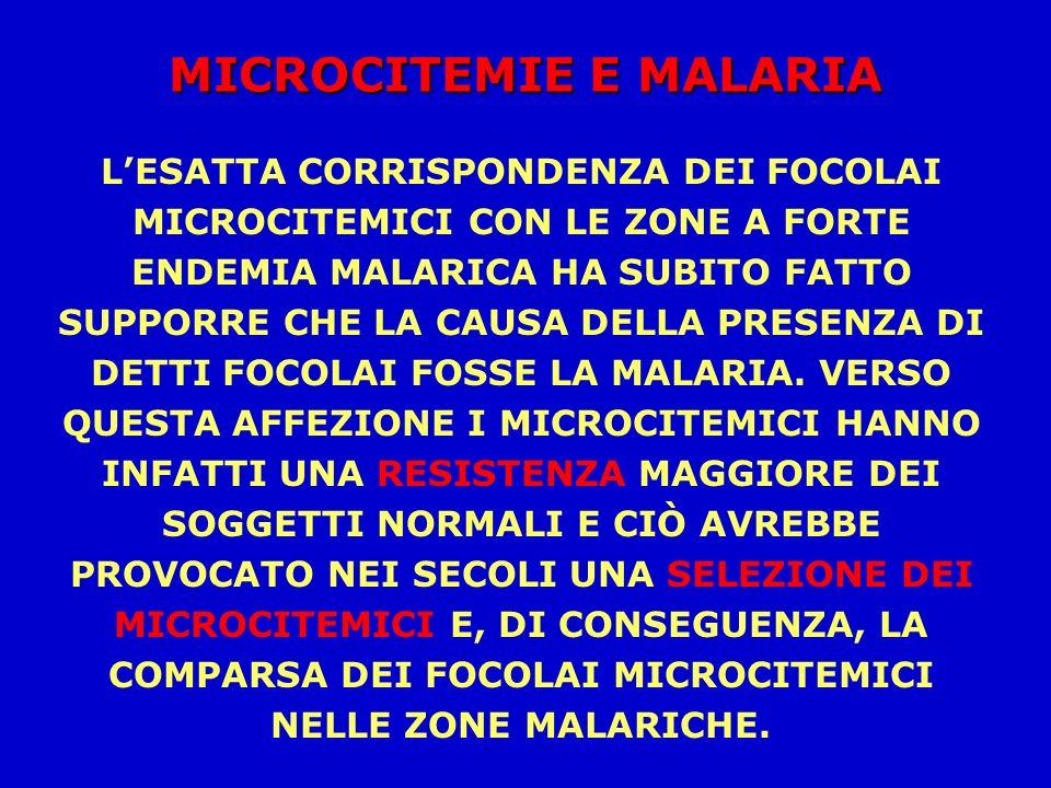 MICROCITEMIE E MALARIA