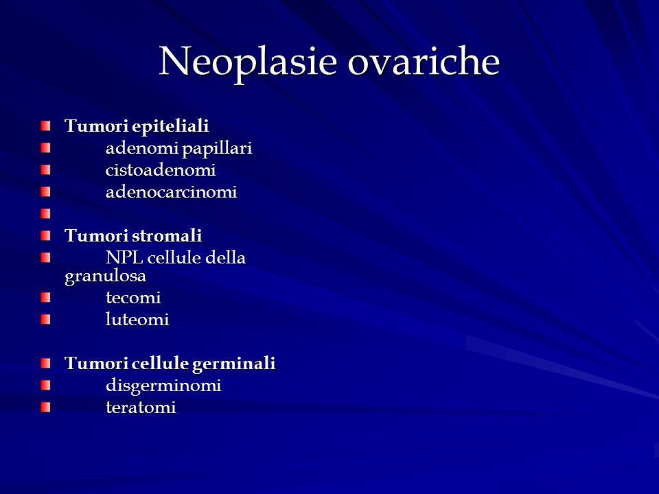 Neoplasie ovariche Tumori epiteliali adenomi papillari cistoadenomi