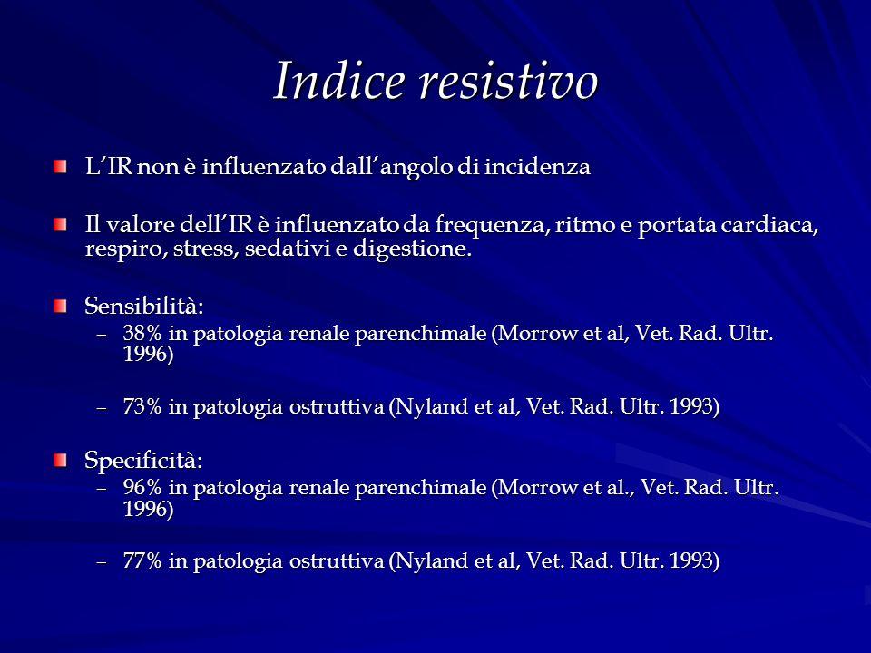 Indice resistivo L'IR non è influenzato dall'angolo di incidenza
