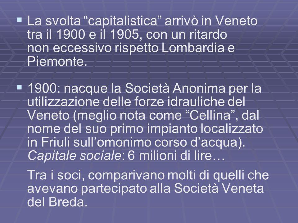 La svolta capitalistica arrivò in Veneto