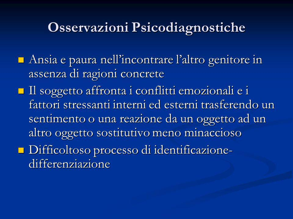 Osservazioni Psicodiagnostiche