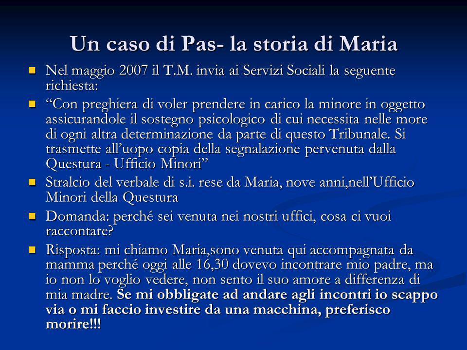 Un caso di Pas- la storia di Maria
