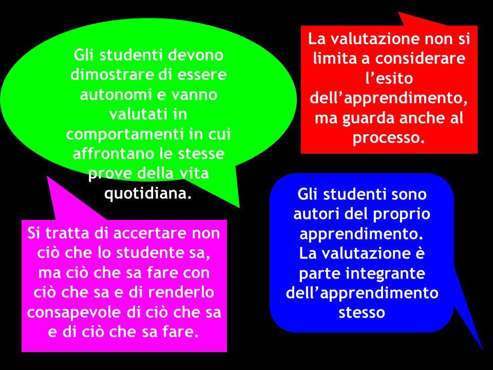 Gli studenti sono autori del proprio apprendimento.