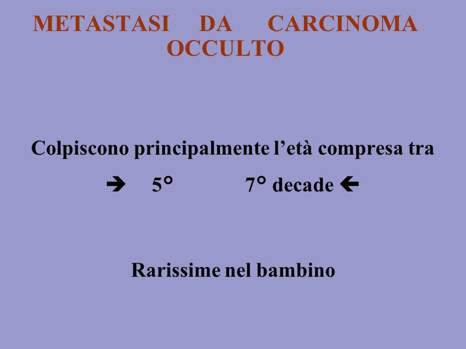 METASTASI DA CARCINOMA OCCULTO