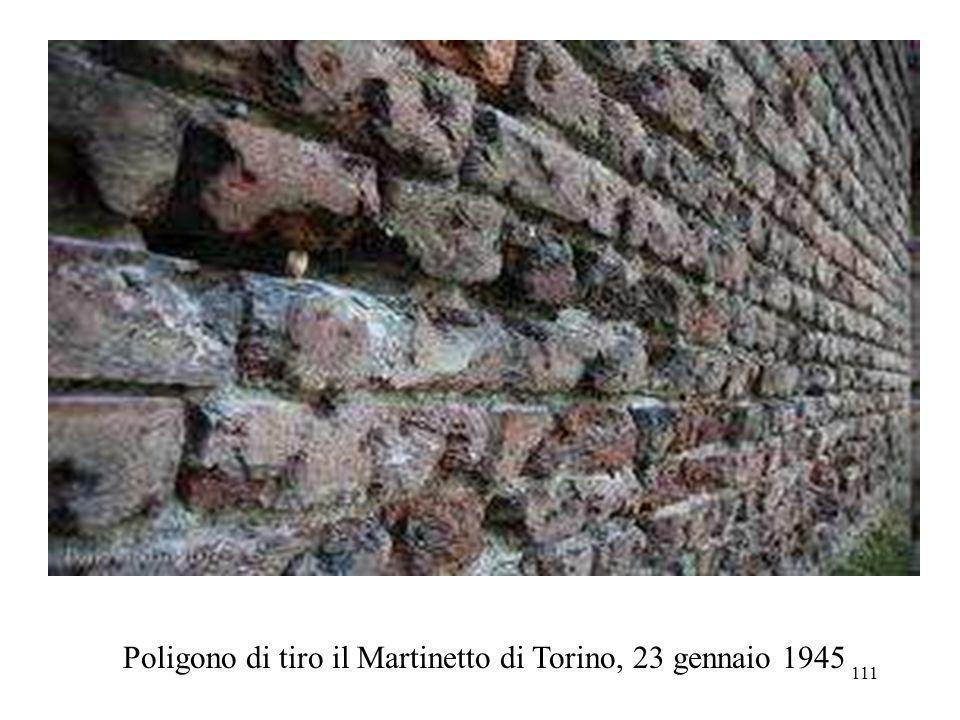 Poligono di tiro il Martinetto di Torino, 23 gennaio 1945