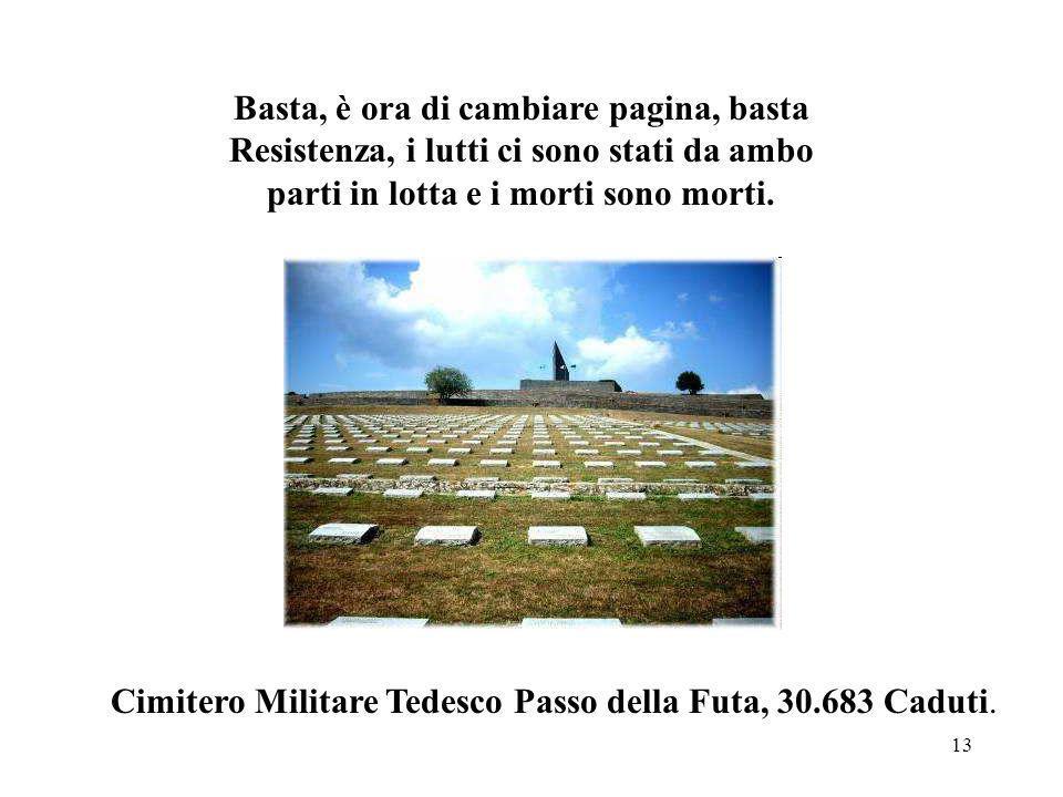 Cimitero Militare Tedesco Passo della Futa, 30.683 Caduti.