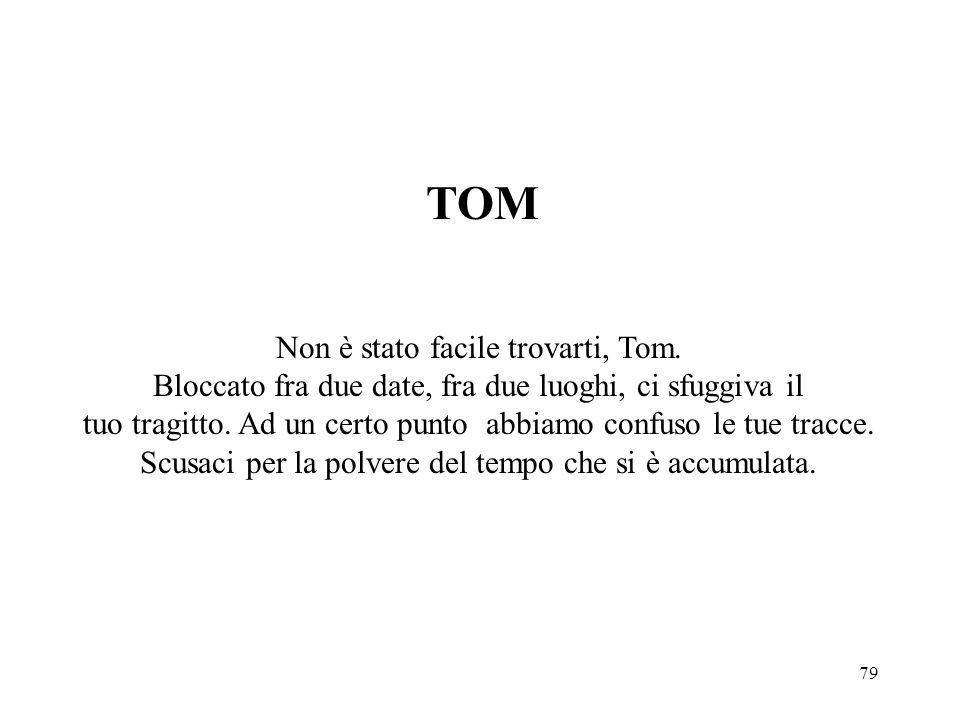 Non è stato facile trovarti, Tom.